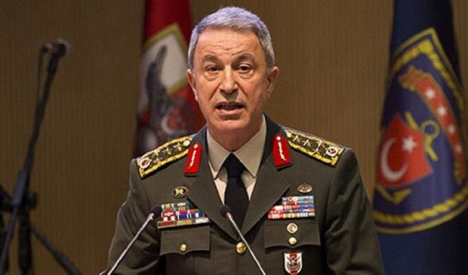 Turkish Defense Minister Hulusi Akar.
