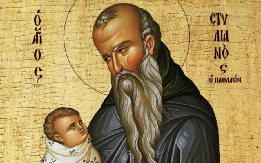 Feast Day of Agios Stylianos, the protector of Children
