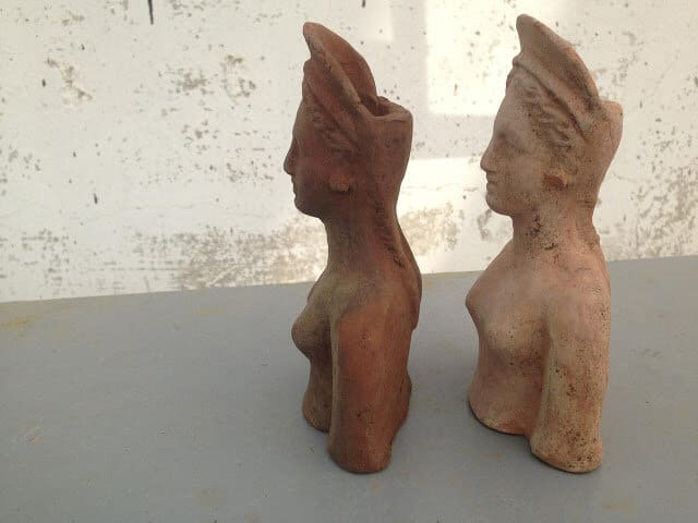 Statuettes of goddess Demeter and her daughter found at a construction site in Russia Anapa 1