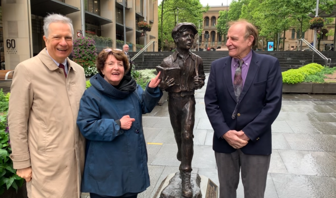 Lysicrates Foundation: Sir James Martin statue unveiled in Sydney, Australia