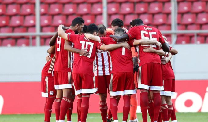 Three Olympiacos players fined for partying during coronavirus lockdown