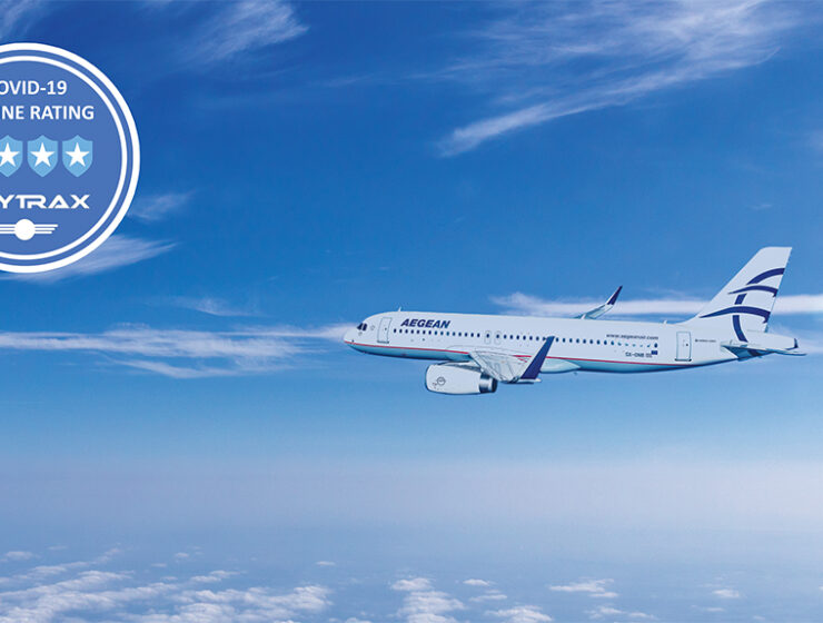 Aegean Airlines receives 4-star Covid-19 Airline Safety Rating