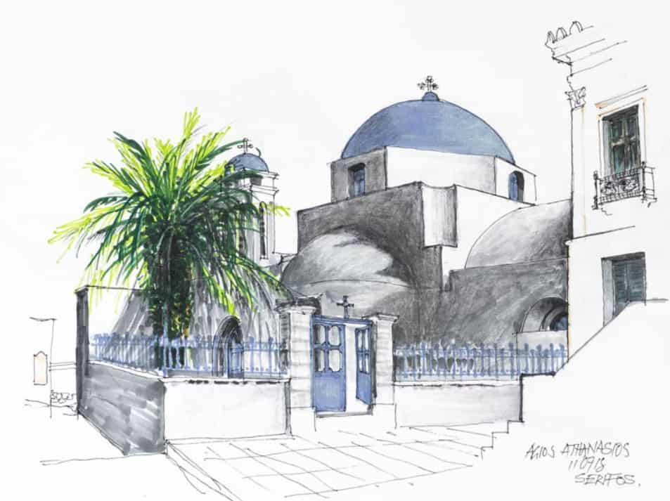 Collection by Australian artist Max Grierson inspired by Athens and the Greek islands 8