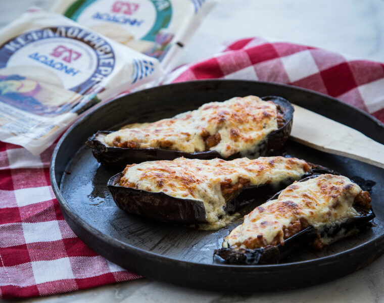 Melitzanes Papoutsakia- Greek stuffed Eggplant Recipe
