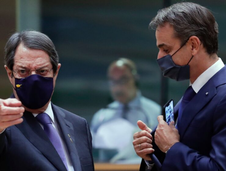 President of the Republic of Cyprus Nicos Anastasiades and Greek Prime Minister Kyriakos Mitsotakis.