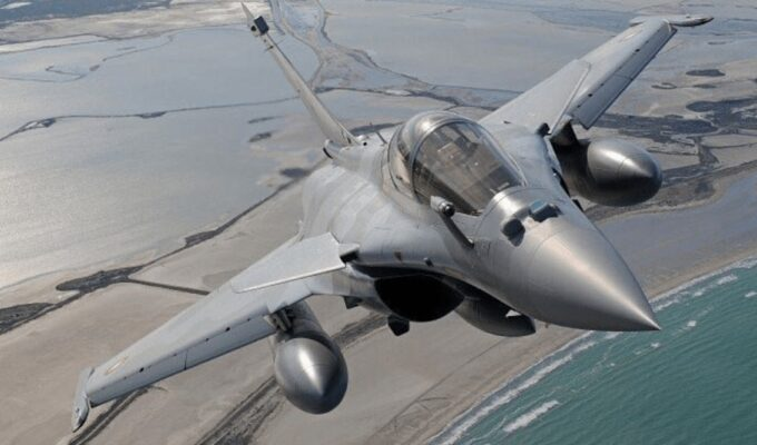 French-made Rafale fighter jet.