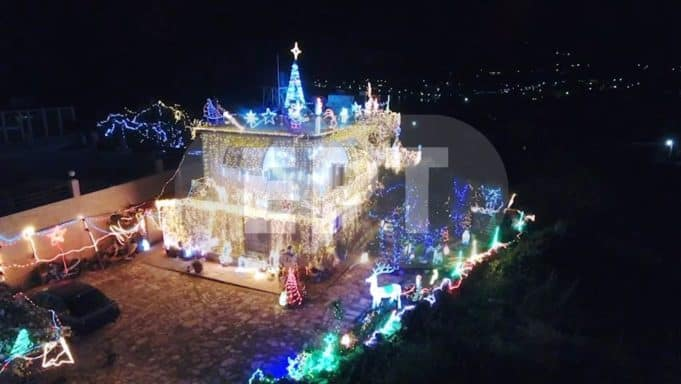 This house in Chios decked out with 300,000 Christmas lights brings joy and cheer