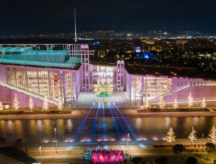Christmas shines bright at Stavros Niarchos Foundation Cultural Centre