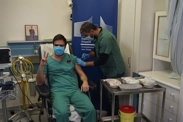 Covid-19 vaccine rollout begins in Cyprus