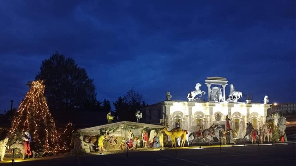 Europe's largest Christmas Nativity Scene located in Thessaloniki
