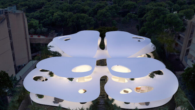 Butterfly-shaped houses 'land' in Vouliagmeni