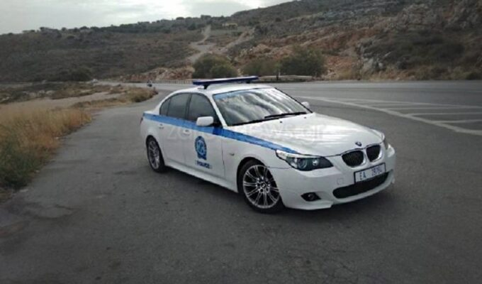 Greek police patrol car.