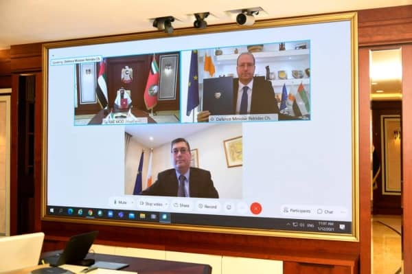 Cyprus. MoU was signed by UAE's Minister of State for Defense Affairs Mohammed bin Ahmed Al Bowardi and Cyprus' Defense Minister Charalambos Petrides on Tuesday via video conferencing.