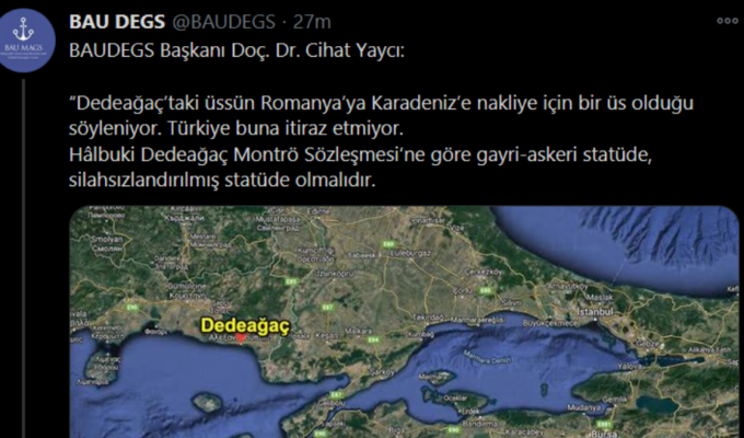 "Theorist behind Turkey's ""Blue Homeland"" demands that Alexandroupolis be demilitarised 2"