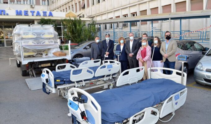 Yiannis Parios donates two ICU beds to Metaxa Cancer Hospital of Piraeus
