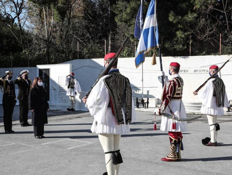 """""""Evzones connect the past with the present and our future,"""" says Greek President"""
