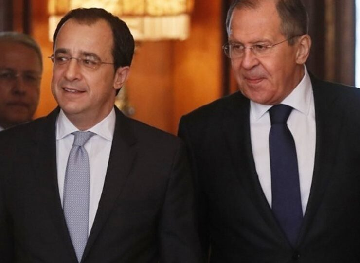 Christodoulides Cypriot Foreign Minister Nikos Christodoulides with his Russian counterpart, Sergei Lavrov.