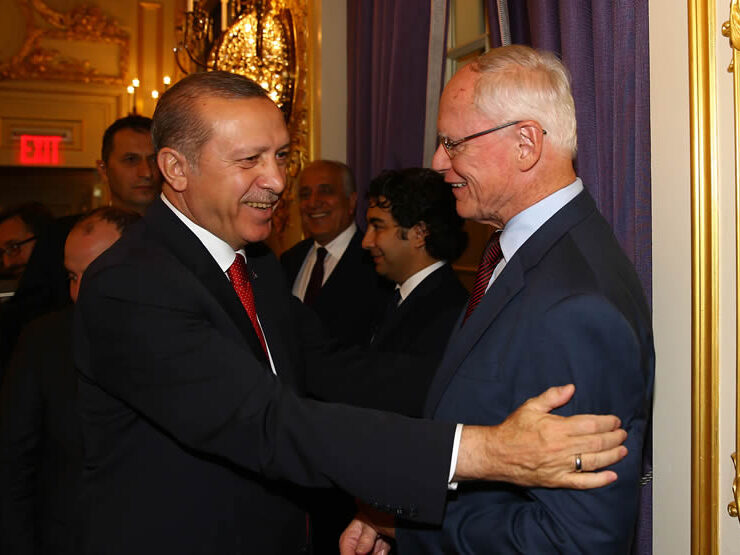Turkey Turkish President Recep Tayyip Erdogan with James Jeffrey.