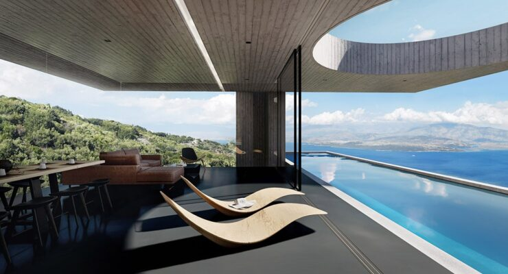 'Casa Odyssia' overlooks the Ionian Sea