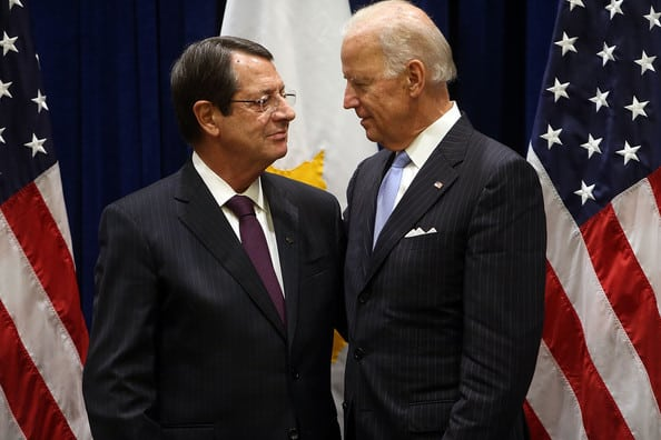 Joe Biden and Nikos Anastasiadis.