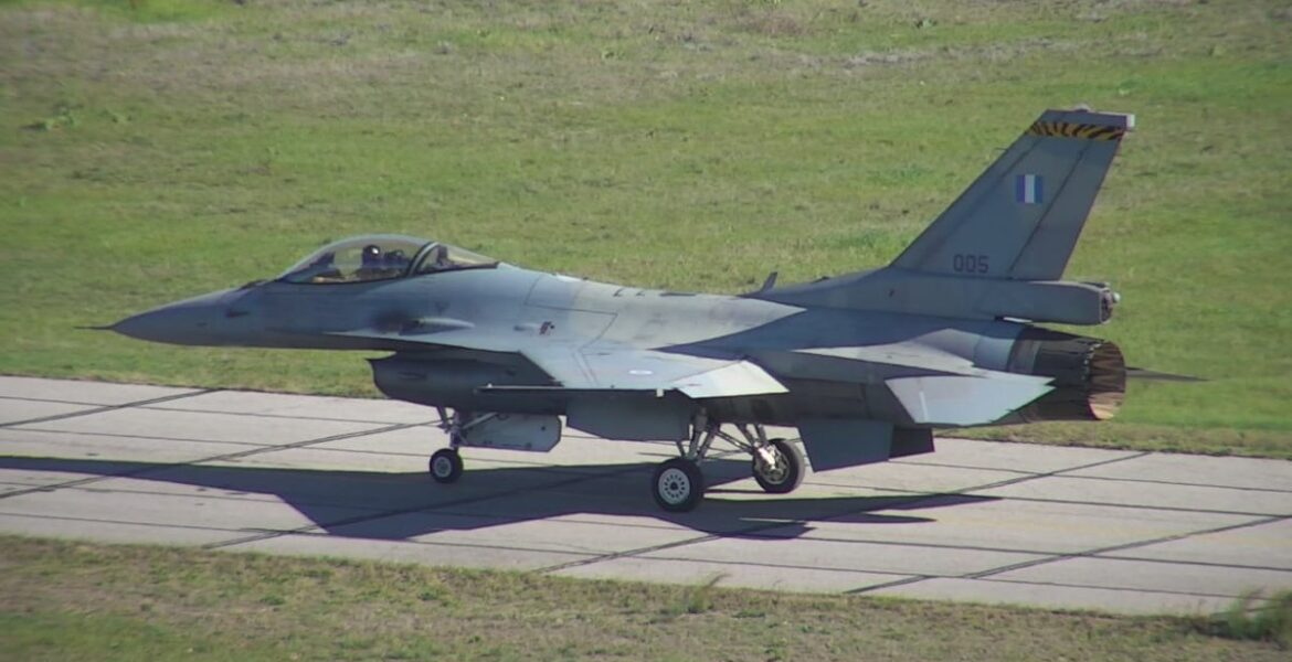 """First upgraded F-16 """"in the Greek skies"""""""