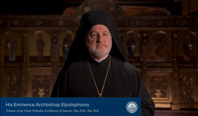 His Eminence Archbishop Elpidophoros at Presidential Inaugural Prayer Service
