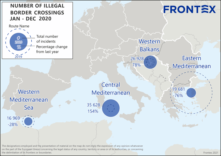 Illegal migration to European Union at lowest level in 7 years