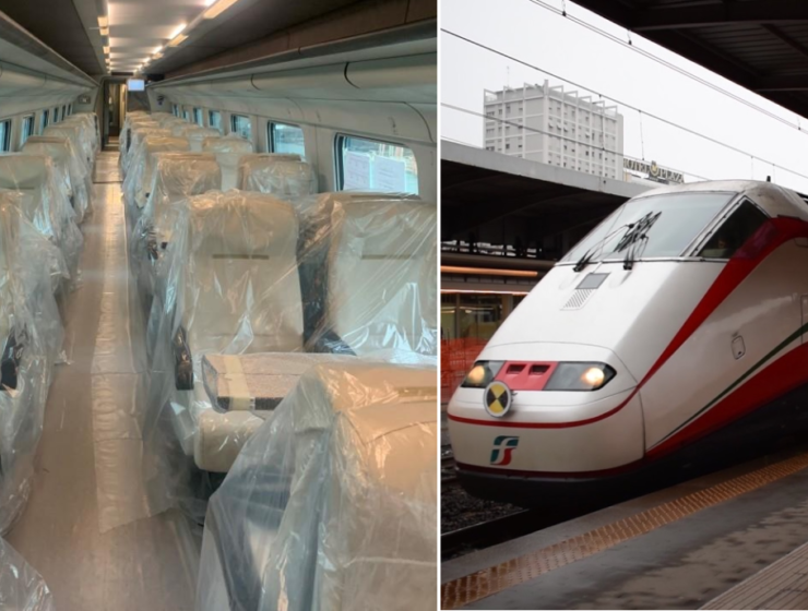 First White Arrow train en route from Italy to Thessaloniki
