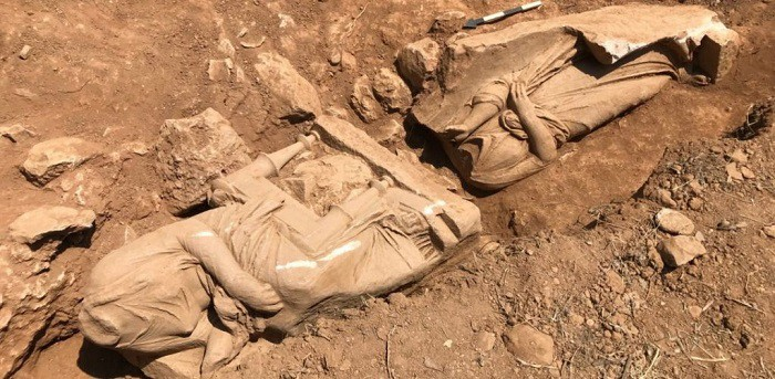 Ancient Greek Statues unearthed near Athens Airport