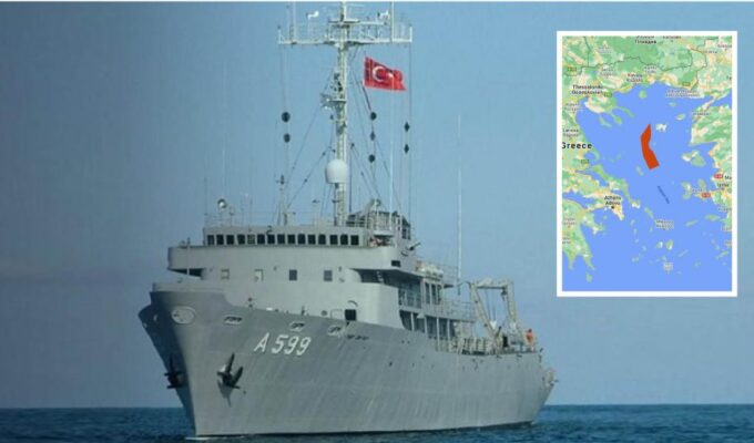 Turkish ship embarks on its illegal research in the middle of the Aegean 3