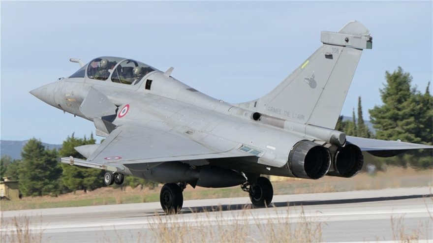 Jet participating in Skyros 2021 exercise.