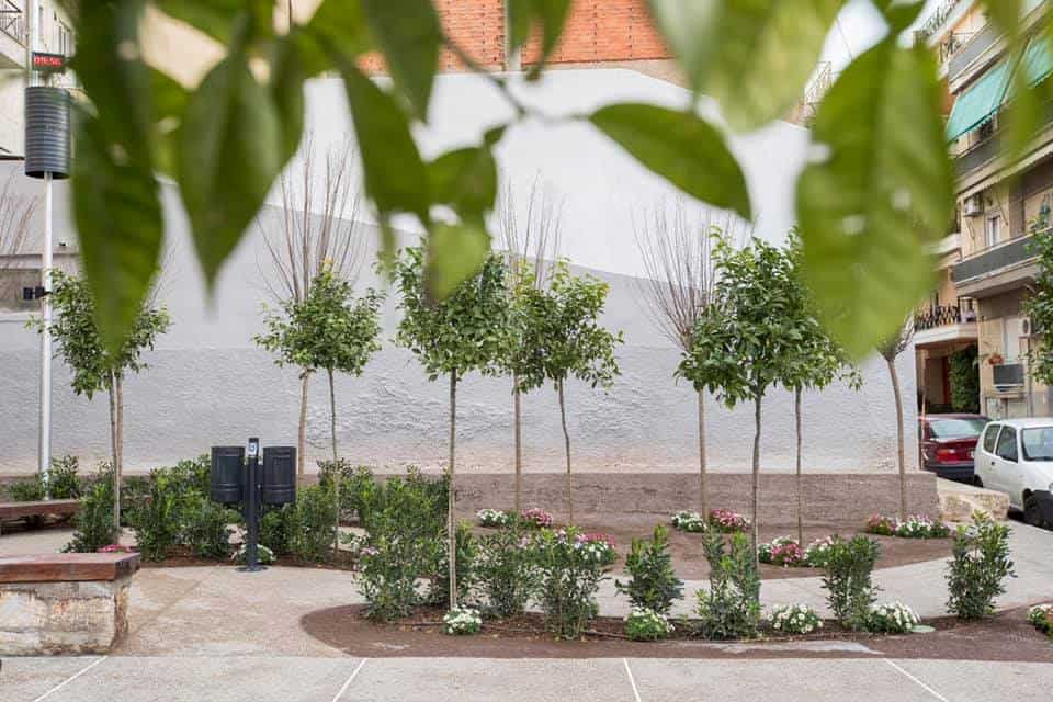 Second 'pocket park' in Athens' Kolonos District is ready