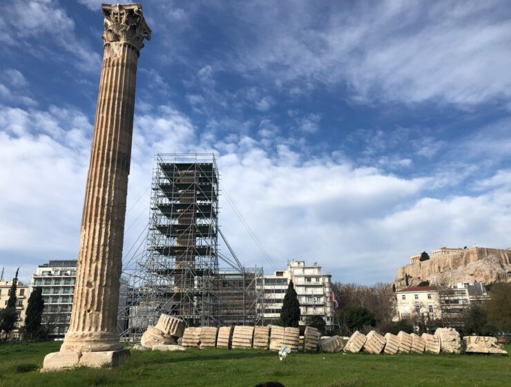 Restoration of the Temple of Olympian Zeus in Athens