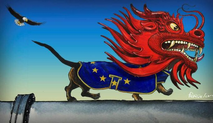 European Union Chinese dragon