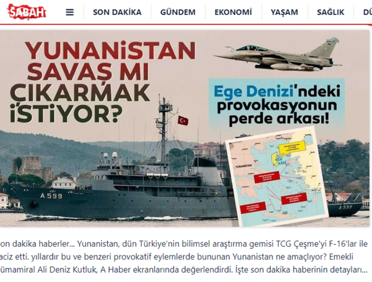 """Does Greece want a war?"": Provocative statements made by retired Turkish admiral 1"