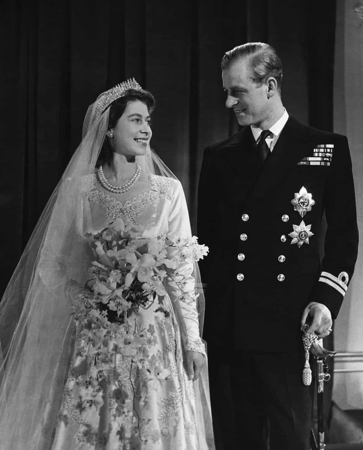 Prince Philip Queen Elizabeth II wedding day