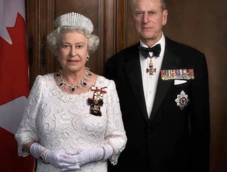 Prince Philip and Queen Elizabeth II of Greece