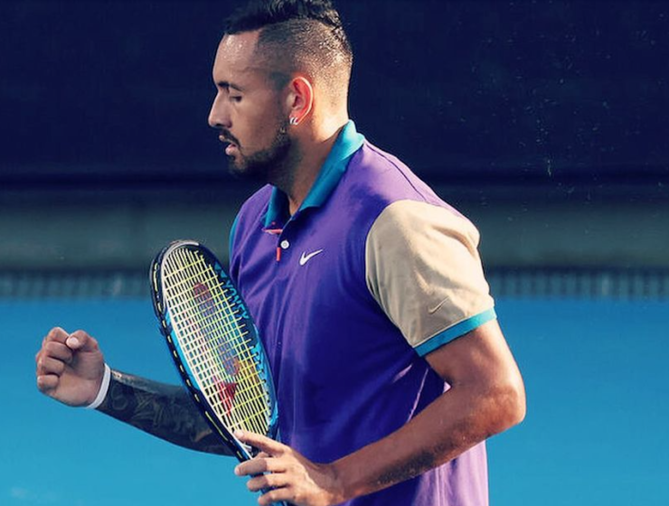 Nick Kyrgios wins first-round match at Australian Open