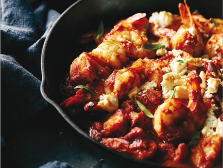 Prawn Saganaki Recipe