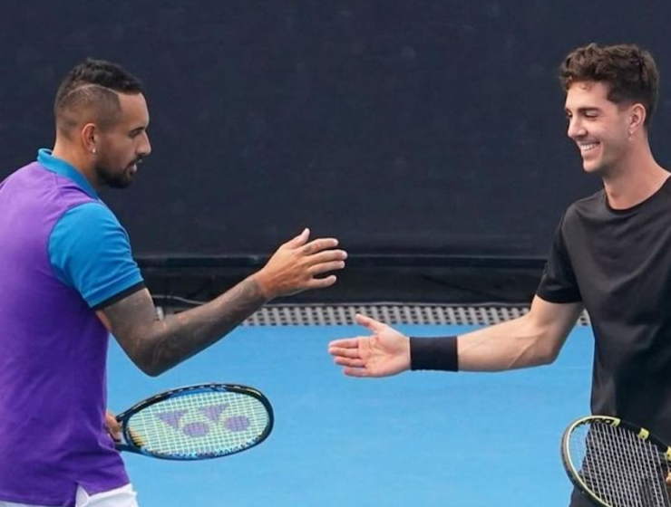 Australian Open 2021: Best mates Kyrgios and Kokkinakis enjoy playing together