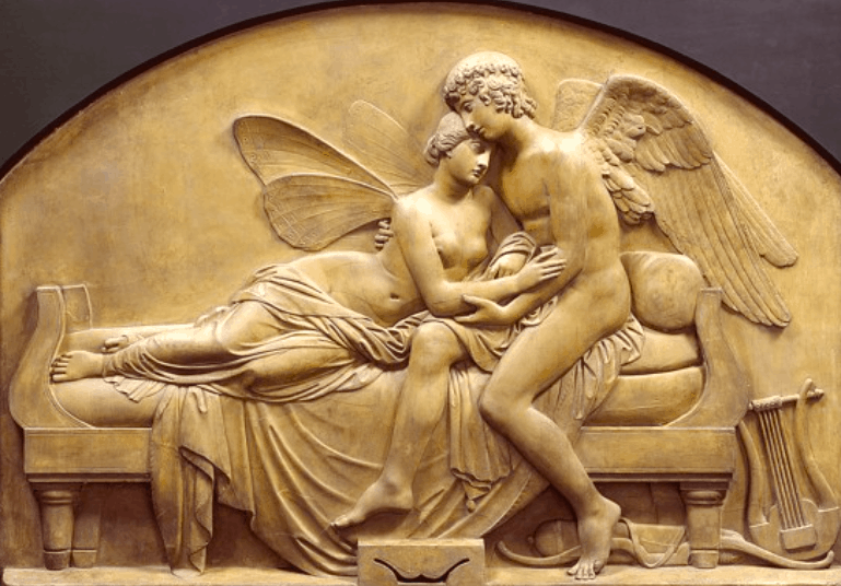 The Marriage of Psyche and Celestial Love, ca. 1844. John Gibson Valentine's Day