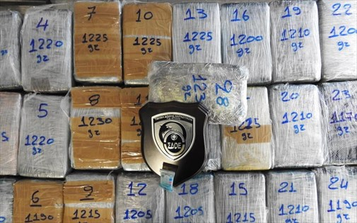 Greek authorities seize 34kg of cocaine in banana containers at Piraeus port