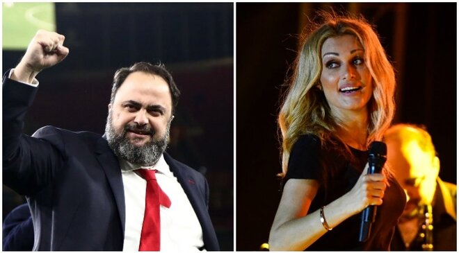 Olympiacos owner Vangelis Marinakis' secret songwriting talent