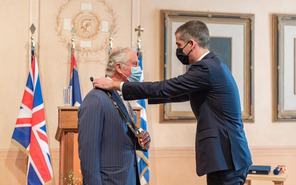 """Prince Charles """"enormously touched"""" to be given Gold Medal of Honour"""