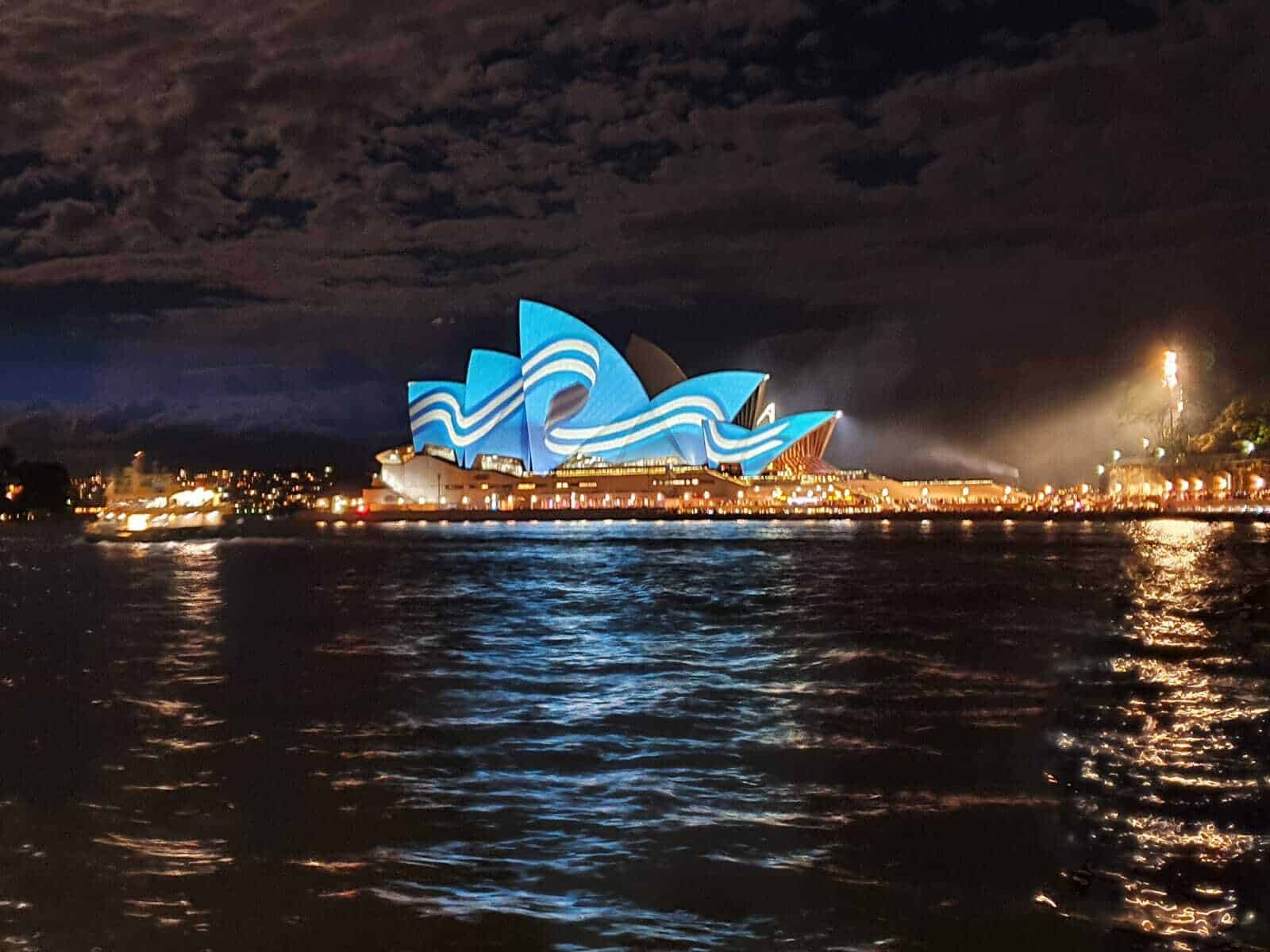 Sydney Opera House turns Blue and White for Greek Independence Day 1