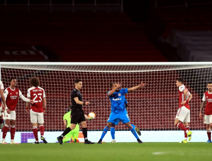 Arsenal are through to the Europa League quarterfinals after losing to Olympiakos 2