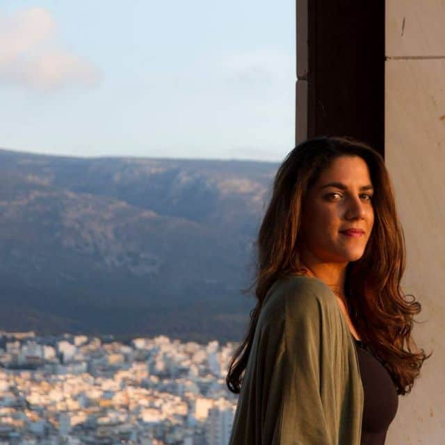 """""""We all have a fusion of sounds inside us,"""" says Greek singer and musician Eleni Arapoglou"""