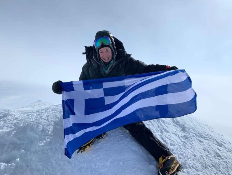 Greek Mountaineer Christina Flampouri celebrates International Women's Day