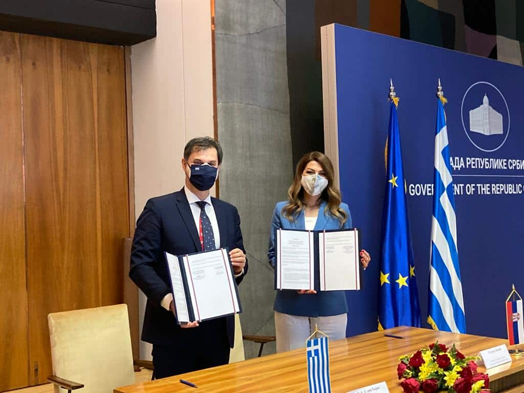 Greece and Serbia sign agreement to restart travel