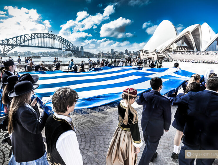 Greek Flag will be projected onto the Opera House on the 25th of March 6